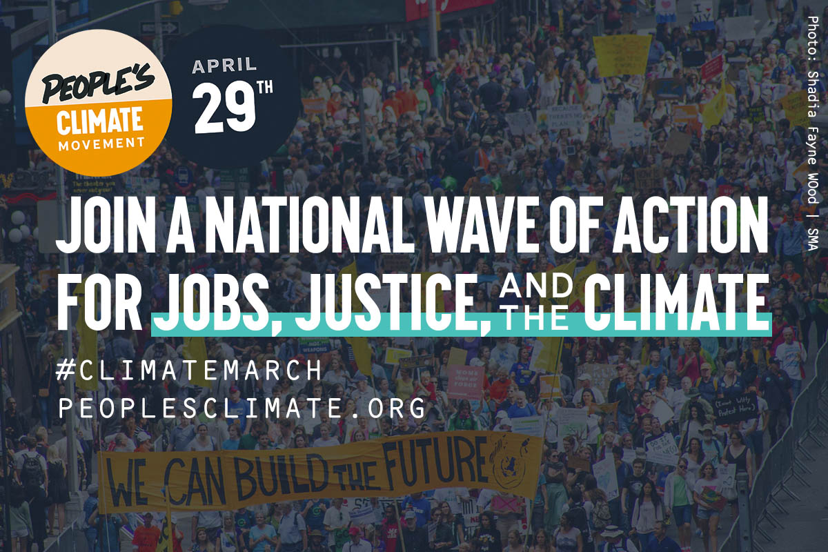 April 29: March for Climate, Justice and Jobs