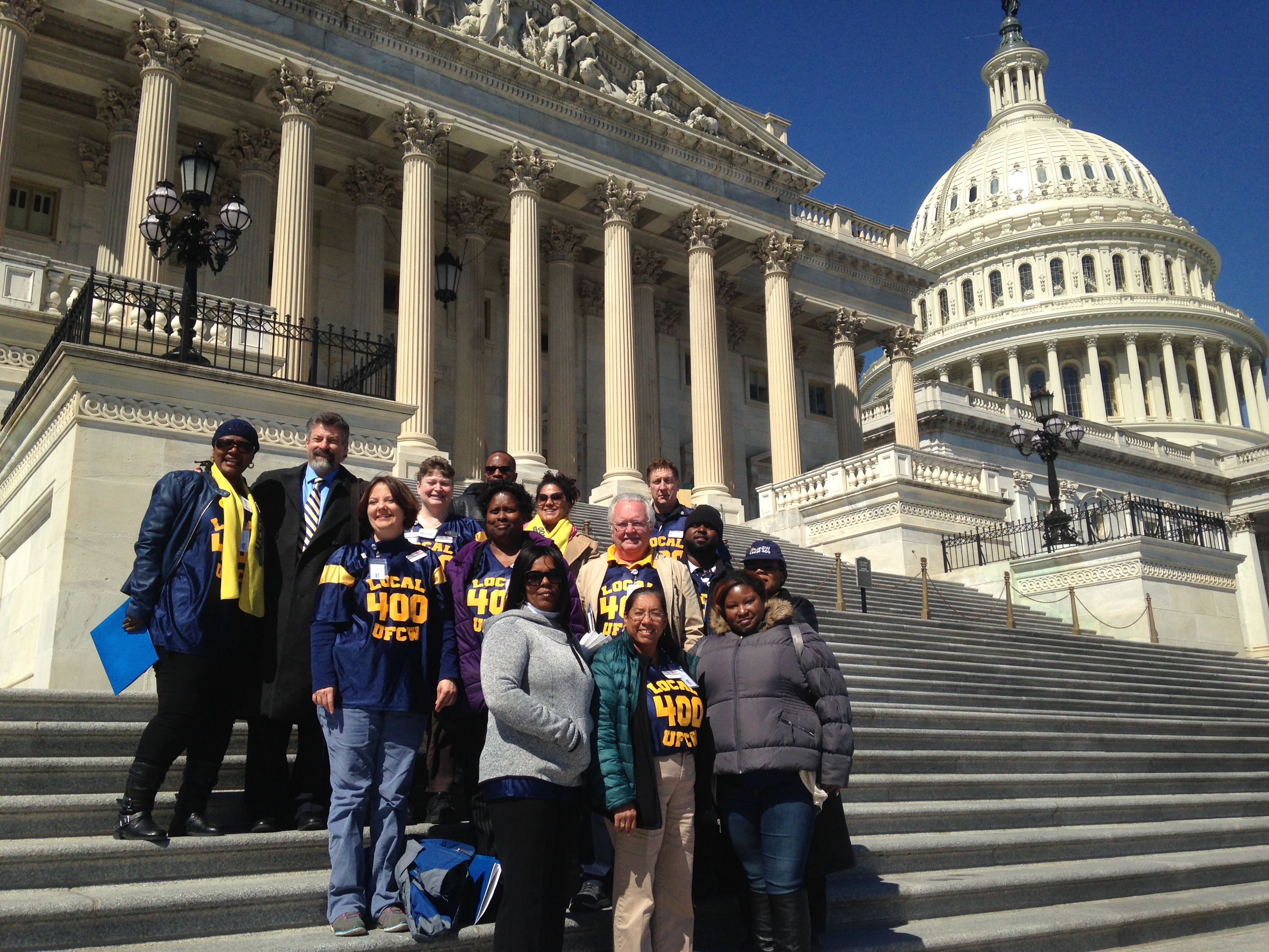 Local 400 Members Speak Out on Capitol Hill