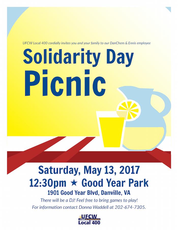 May 13: DanChem & Ennis Solidarity Picnic