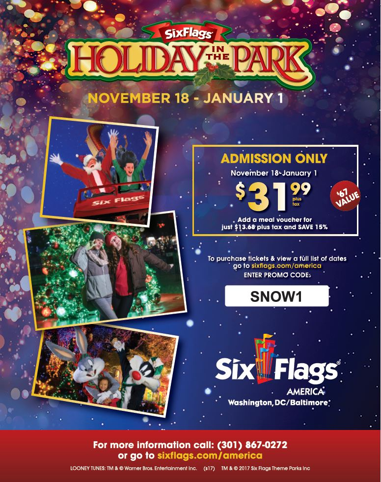 Exclusive Union Discounts to Six Flags Holiday In The Park