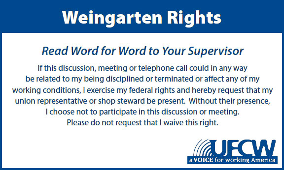 Don't Go It Alone: Know Your Weingarten Rights