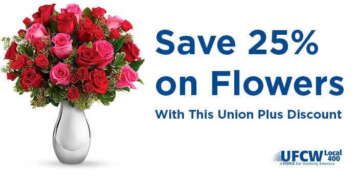 Save 25% on Flowers With This Union Plus Discount